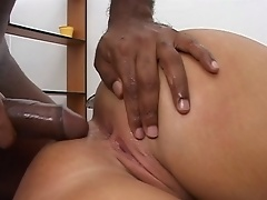 Cock suckin horny bitch fucked by hard big black dick